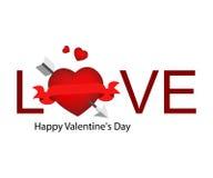 Marchio del biglietto di S. Valentino Immagini Stock Libere da Diritti