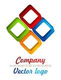 logo del diamante colorato 3D Fotografia Stock