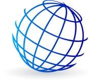 Marchio del globo Immagine Stock