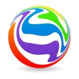 Marchio del globo Fotografia Stock