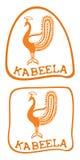Marchio del pavone illustrazione vettoriale