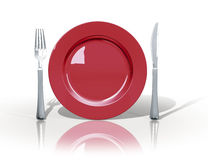 Marchio del pranzo Immagine Stock