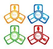 logo del ristorante colorato 3D Immagine Stock Libera da Diritti