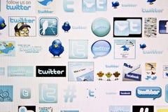 Marchio del Twitter Fotografie Stock