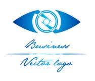 Logo dell'occhio azzurro Fotografia Stock