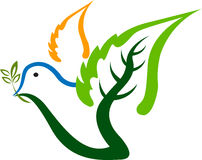 Marchio dell'uccello del foglio Fotografia Stock Libera da Diritti