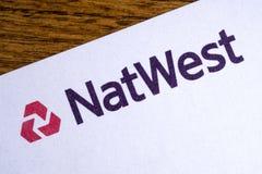Marchio della Banca di Natwest Immagini Stock