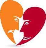 Marchio della maschera di protezione del cuore royalty illustrazione gratis