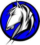 Marchio della mascotte cavallo selvaggio/del mustang Fotografia Stock