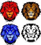 Marchio della mascotte del leone Fotografia Stock