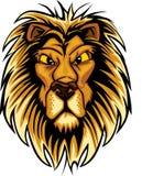 Marchio della mascotte del leone Fotografie Stock