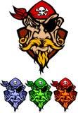 Marchio della mascotte del pirata Fotografia Stock