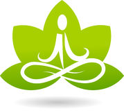 Marchio della meditazione del loto Immagini Stock