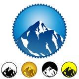 Marchio della montagna Fotografie Stock Libere da Diritti