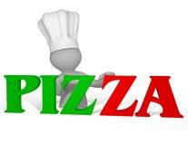 Marchio della pizza Fotografia Stock