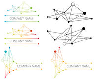 Marchio della rete del collegamento Fotografia Stock