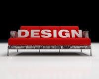 Marchio di disegno sul sofà illustrazione di stock