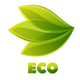 Marchio di Eco Fotografia Stock