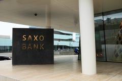 Marchio di fabbrica della Banca di Saxo Immagini Stock Libere da Diritti