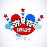 Marchio di football americano Fotografia Stock