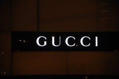 Marchio di Gucci Fotografie Stock Libere da Diritti