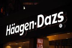 Marchio di Haagen-Dazs Immagine Stock