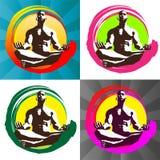 Marchio di meditazione illustrazione di stock