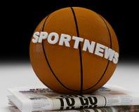 Marchio di notizie di sport Fotografie Stock