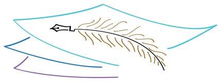 Marchio di scrittura illustrazione vettoriale