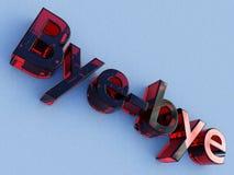 Marchio di vetro rosso di bye-bye illustrazione vettoriale