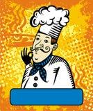 Marchio di vettore del cuoco Immagini Stock