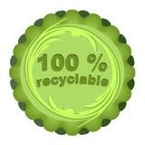 Marchio ecologico per i materiali riciclabili illustrazione di stock