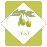 Marchio/icona dell'olio di oliva del contrassegno Fotografie Stock