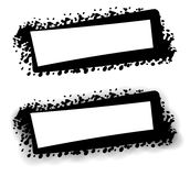 Marchio nero di Web page di Grunge illustrazione vettoriale