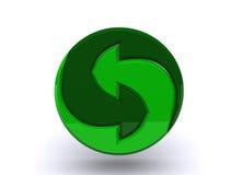 Marchio per i materiali riciclabili fotografia stock