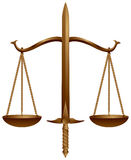 Marchio, scala e spada della corte Immagini Stock Libere da Diritti