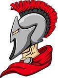 Marchio spartano/Trojan della mascotte Fotografia Stock