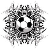 Marchio tribale di vettore della sfera di calcio royalty illustrazione gratis
