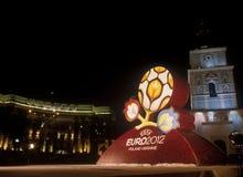 Marchio ufficiale per l'EURO 2012 dell'UEFA Immagini Stock