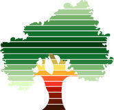 Marchio verde dell'albero Immagini Stock Libere da Diritti