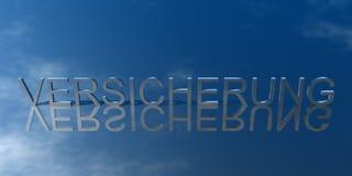 Marchio Versicherung Blau Immagini Stock Libere da Diritti