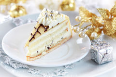 Marchpane cake for Christmas Royalty Free Stock Photography