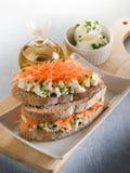 marchwiana serowa kanapka Zdjęcia Stock