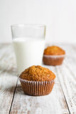 Marchwianego torta muffins Fotografia Stock