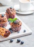 Marchwiani muffins z blueberrie Fotografia Royalty Free