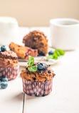Marchwiani muffins z blueberrie Zdjęcie Stock