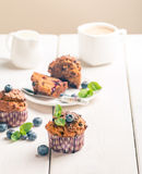 Marchwiani muffins z blueberrie Obrazy Royalty Free