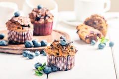 Marchwiani muffins z blueberrie Obrazy Stock