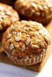 Marchwiani muffins z słonecznikowymi ziarnami Fotografia Royalty Free