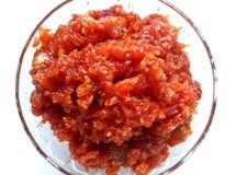 Marchwiany Słodki naczynie Indiański Specjalny Okazyjny produkt spożywczy obraz stock